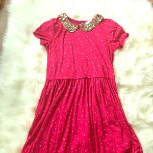 Mini Boden dress with sequin collar size 11-12